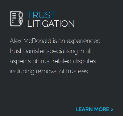 Alex is an experienced trust barrister specialising in all aspects of trust related disputes including removal of trustees